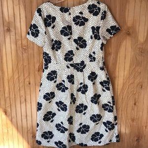 Boden Dresses Sierra Textured Dress Navy Blue Off White Poshmark